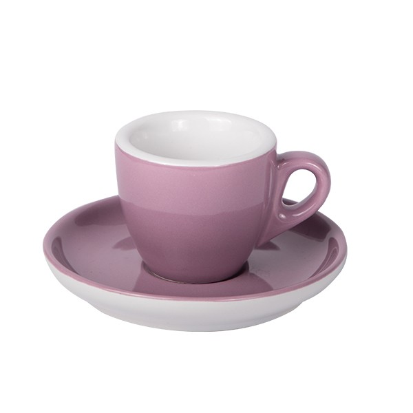 Purple - Espresso cup with saucer 55ml