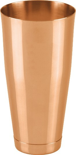 Boston shaker polished copper plated 820 ml