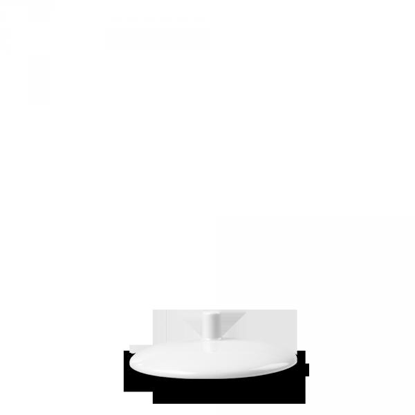 """White Profile Sugar Lid 3.94"""" 12/box"""