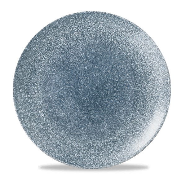 "Raku Topaz Blue Evolve Coupe Plate 11.25"" 12/box"