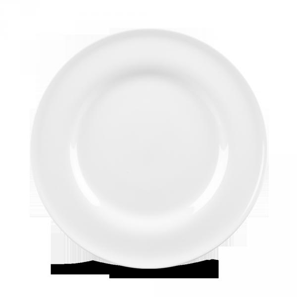 """White Contempo Plate 10"""" 12/box"""