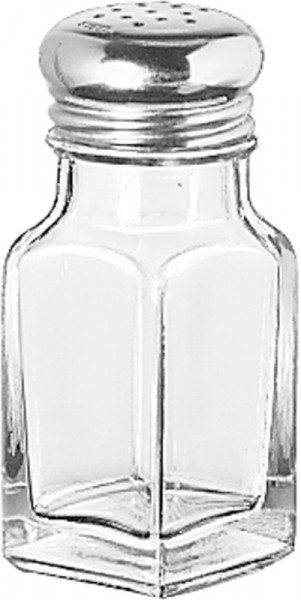 Square S&P Shaker (Stainless Steel Top) 59ml