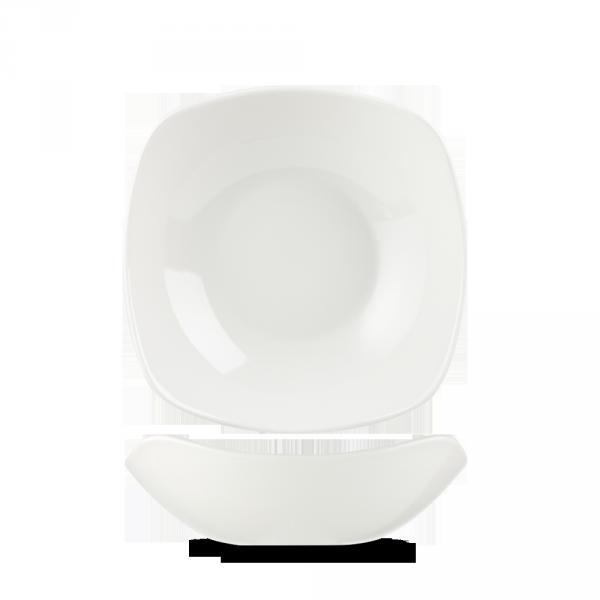 "White X Squared Bowl 7"" 12/box"