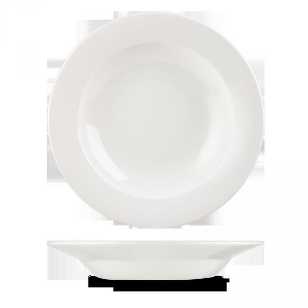 """White Classic Pasta Bowl 11.75"""" 12/box"""