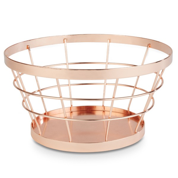 Food & Fruit basket Copper brushed
