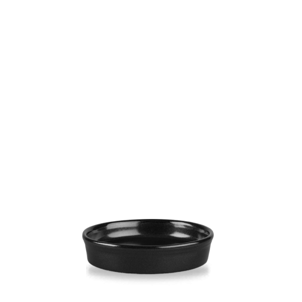 Metallic Black Mezze Dish 2Oz 12/box