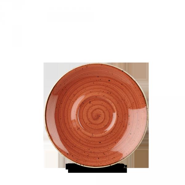 "Stonecast Orange Cappuccino Saucer 6.25"" Box 12"