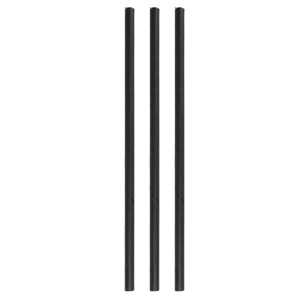 Paper straws eco black 8*250 mm