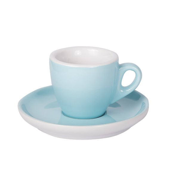 Espresso cup with saucer blue 628c 55 ml