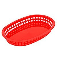 Chicago Platter Basket Red 36/box