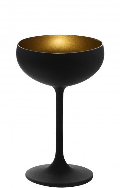 Olympic matt-black Champagne Saucer Gold 230 ml 6/box
