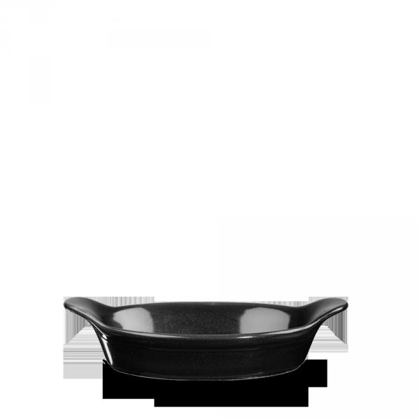 """Metallic Black Small Round Eared Dish 6""""X7"""" 6/box"""