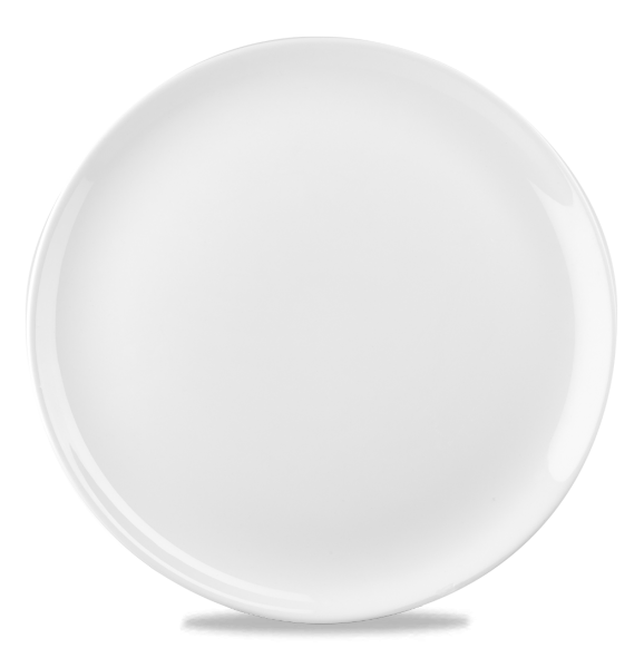 "White Round Evolve Plate 12"" 6/box"