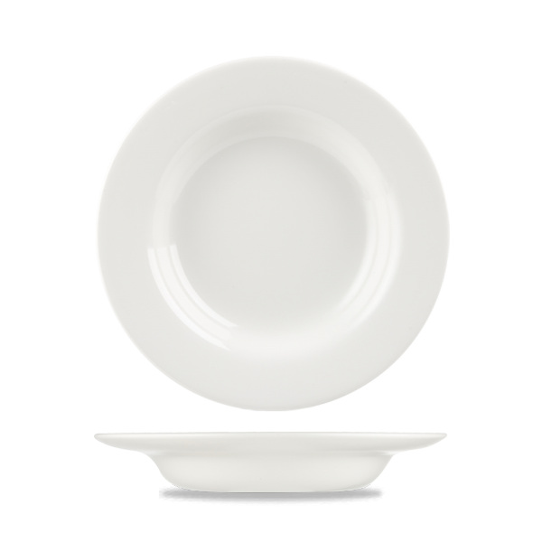 "White Classic Rimmed Soup 9"" 24/box"