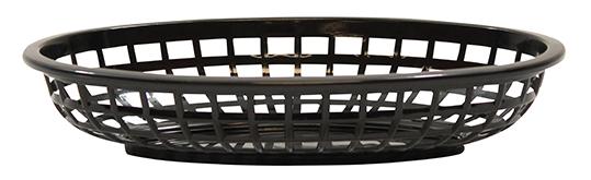Classic Oval Basket Black 36/box