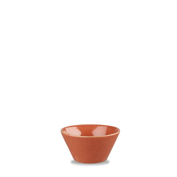 Stonecast Orange X Squared Sauce Dish 3Oz 12/box