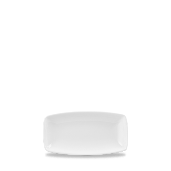"White X Squared Oblong Plate 7 6/8"" Box 12"
