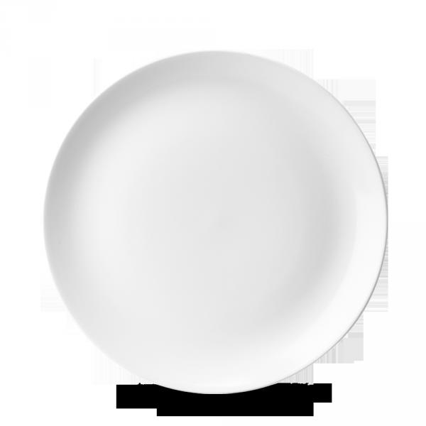 """White Evolve Coupe Plate 8.67"""" 12/box"""
