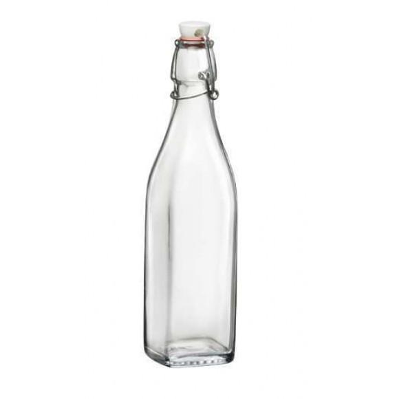 Swing Fles Vierkant Met Beugel 1 liter 6/box