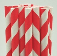 Paperstraw redwhite 8*255 mm