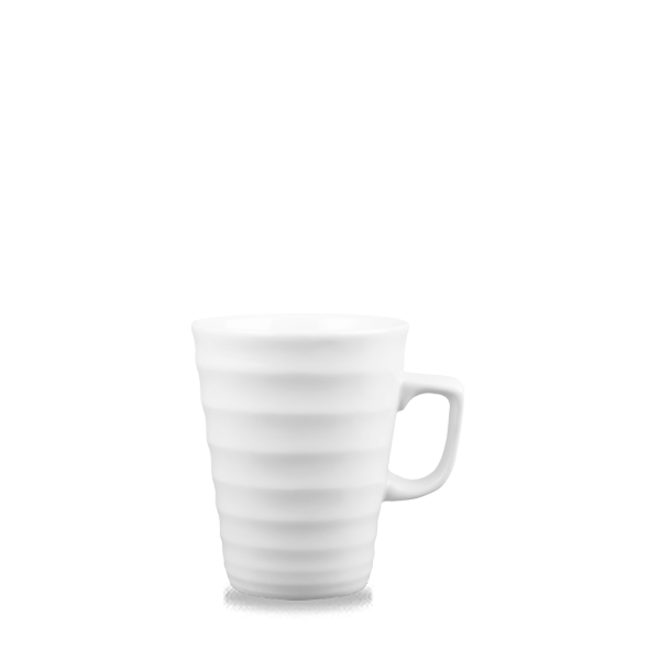 White Ripple Latte Mug 16Oz 6/box