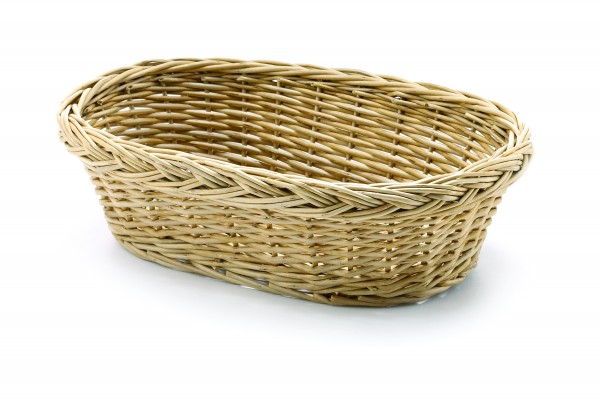 Handwoven basket oval