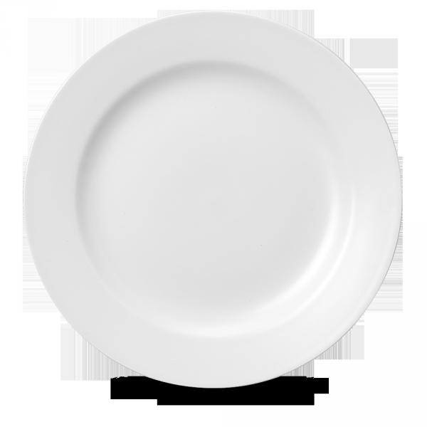 """White Classic Service Plate 12.5"""" 12/box"""