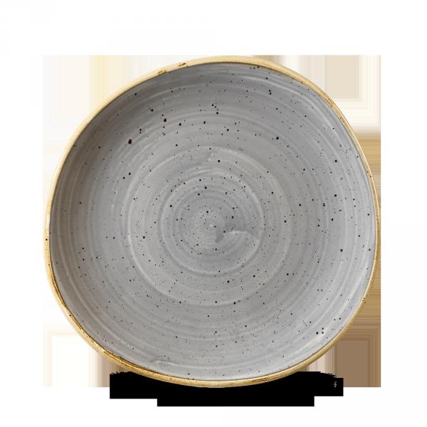 "Stonecast Grey Round Trace Plate 8 1/4"" Box 12"
