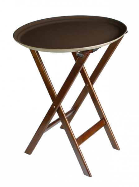 Traystand wood 48*40 cm H 78 cm