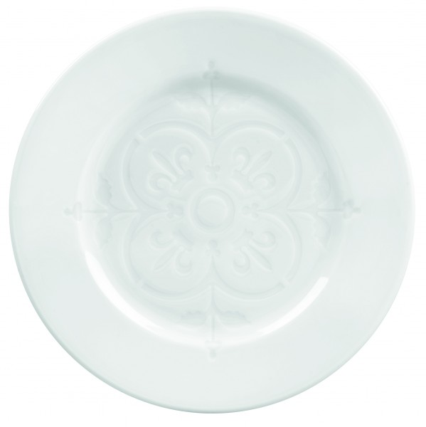 Plate with pattern in the middle