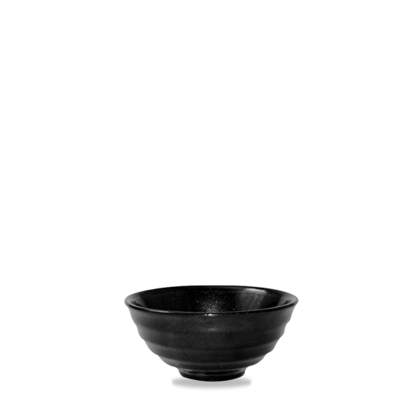 Metallic Black Noodle Bowl 6Oz 12/box