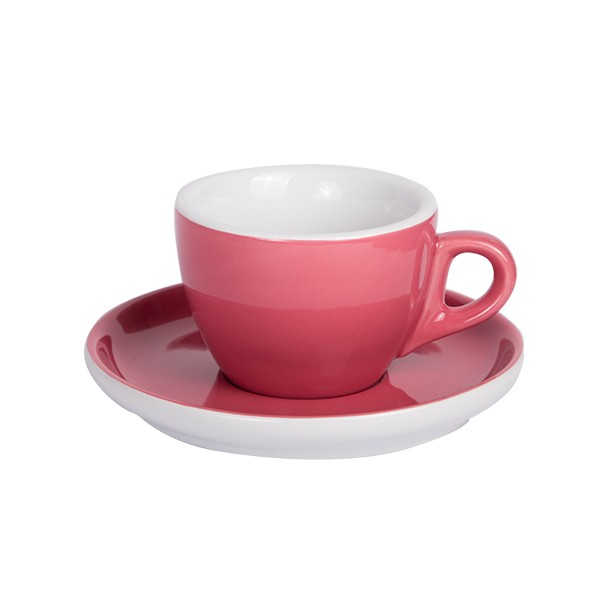 Oven red - Coffee cup with saucer 160ml