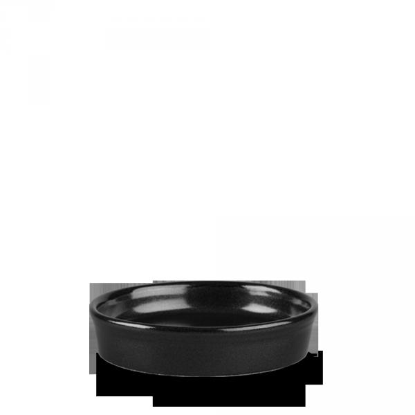 Metallic Black Mezze Dish 9Oz 12/box
