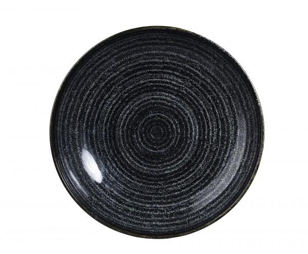 "Studio Prints Charcoal Black Coupe Bowl 7.25"" Box 12"