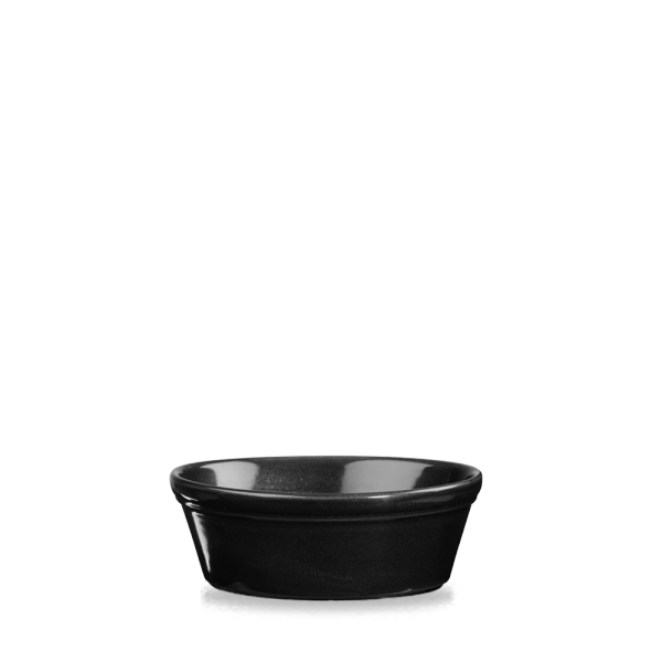 "Metallic Black Oval Pie Dish 6""X4.75"" 12/box"