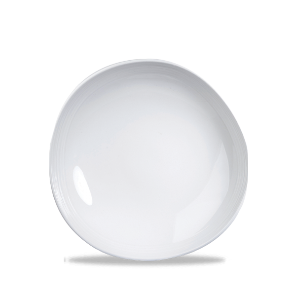 "White Round Discover Plate 10 3/8"" 12/box"