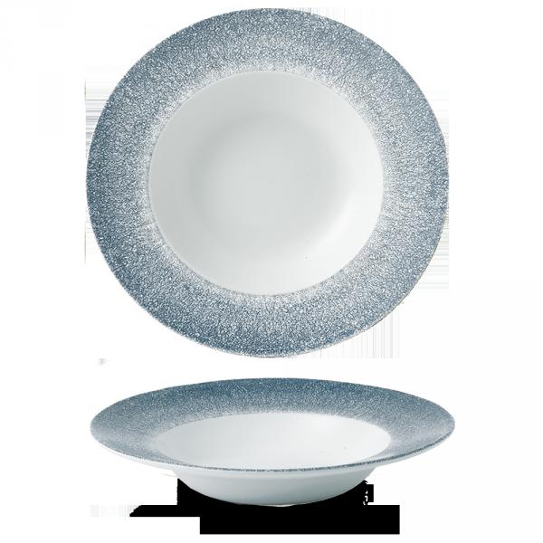 "Raku Topaz Blue Profile Wide Rim Bowl Large 10.90"" 12/box"
