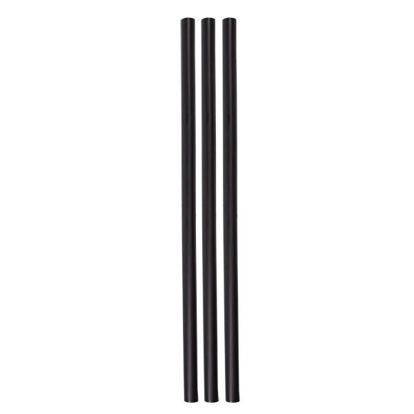 ECO rietjes zwart zonder buigstuk 10 mm Ø 25 cm