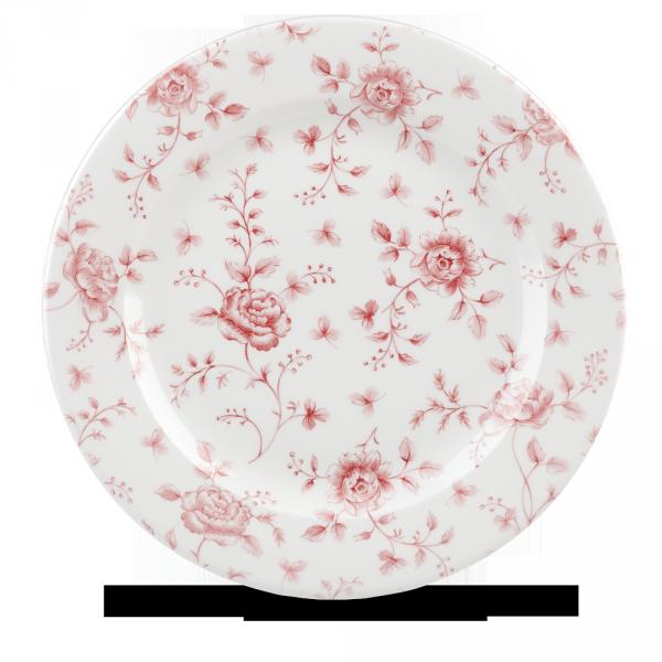 "Rose Chintz Cranberry Profile Plate 12"" Box 6"