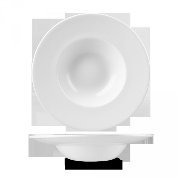 "White Profile Wide Rim Bowl Med 9.4"" 12/box"