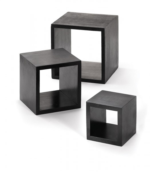 Riser set, Black, Wood 3pc
