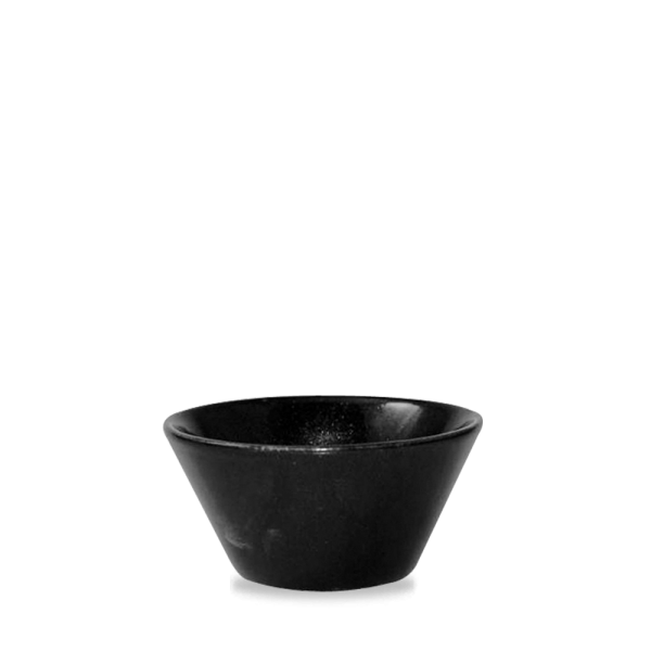 Metallic Black Zest Snack Bowl 10Oz 12/box