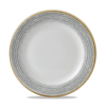 "Studio Prints Stone Grey Profile Plate 10 1/4"" 12/box"