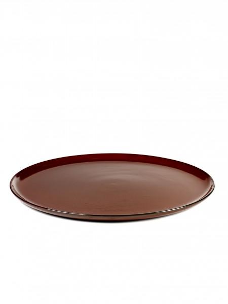 Anita Le Grelle - Terres De Reves - Plate L D26 Rust