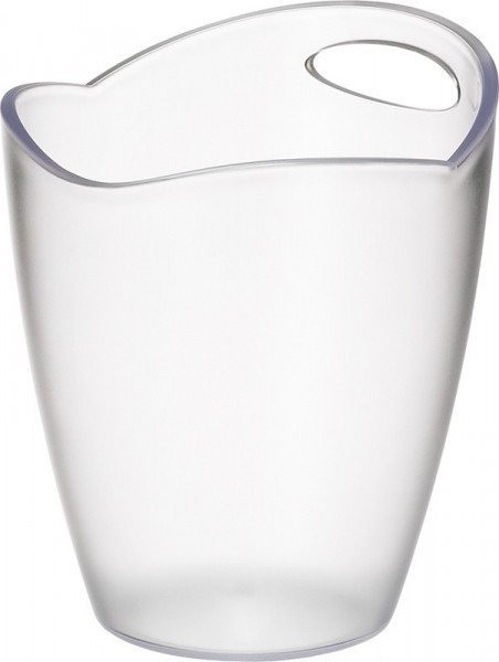 Ice Bucket Frosted Clear Plastic Ř 22*24 cm 3 L