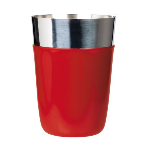 Cocktailshaker vinyl coated red 450 ml OP=OP