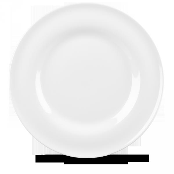 """White Contempo Plate 12.5"""" 12/box"""