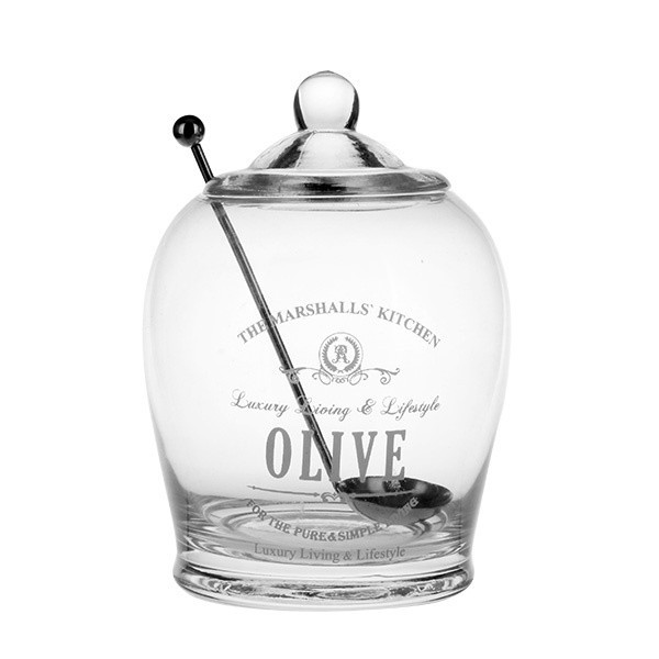 Olive Jar with decal