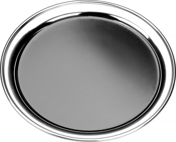 Metal Tray with Vinyl stainless steel Ø 35,5 cm