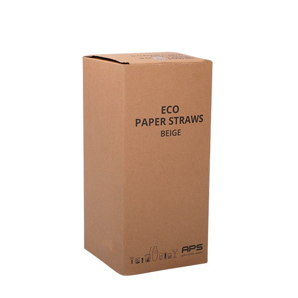 Paper straws eco beige 8*230 mm